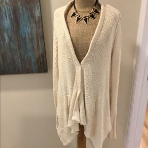 FREE PEOPLE cascading cotton sweater cardigan